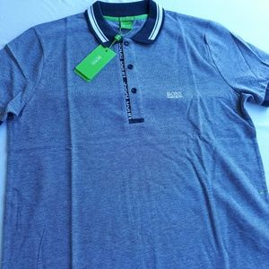 HUGO BOSS MEN GRAY POLO SHIRT NEW WITH TAGS